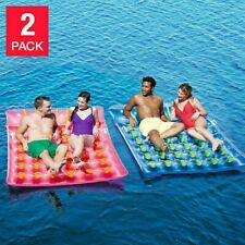 Bestway H2OGO Double Drifter Inflatable Float Pool Sea Mattress 2 Pack
