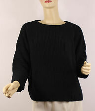 Polo Ralph Lauren Womens Sweater Medium Black Knit Cotton