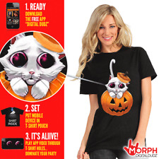Digital Dudz Morph suit Adorable Kitty Eyes Cat T-Shirt X-large Halloween Costum