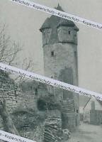 Sulzfeld am Main - Der rote Turm - Stadtbefestigung - um 1915      Z 2-11