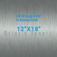"430 Stainless Steel Sheet Kick Plate 20 Gauge 0.036/"" inch 27 1//4/"" X 23 1//8/"""