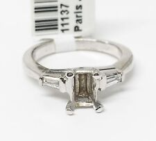 Platinum Semi Mount Three-Stone Engagement Ring