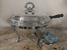 Vintage International Silver Company Silver Plated Chafing Dish Set original tag