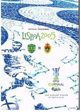 UEFA Cup Final 2005 Sporting Lisbon - CSKA Moscow 1-3 DVD Full Match
