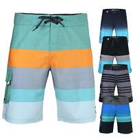 Men's Teen's Drawstring Board Shorts 36 Size Swimming Waves Swim Trunks Blue