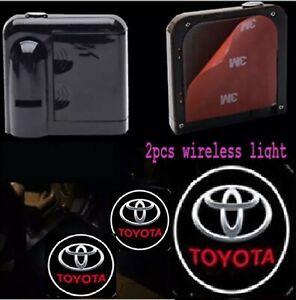 2 Pc Car Logo Wireless LED Courtesy Car Door Ghost Shadow Projector Light TOYOTA