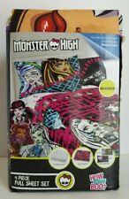 Monster High All Ghouls Allowed 4 Piece Full Size Sheet Set, NEW
