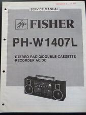 ORIGINALI service manual Fisher STEREO RADIO CASSETTE RECORDER ph-w1407l