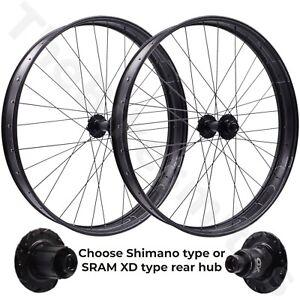 "HED BIG ALUMINUM DEAL 26-in 15x150 Front 12x197 Rear TA Fat Bike Wheelset 26"""