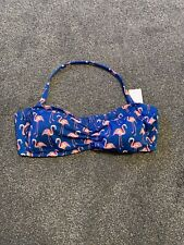 M&S Bandeau Bikini Staynew Chlorine Resist Removable Cups And Straps Size 20