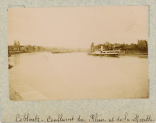 Allemagne, Coblence, Koblenz, confluent du Rhin et de la Moselle  vintage albume