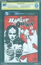Harley Quinn 0 Wonder Woman CBCS ART 1/2014 Sketch Variant up CGC SS 9.8