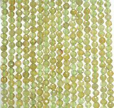 "3MM LIGHT GREEN GREEN GARNET GEMSTONE MICRO FACETED ROUND LOOSE BEADS 15.5"""