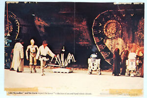 """1977 Nabisco Weeties Star Wars Poster """"LUKE SKYWALKER AND HIS UNCLE..."""" ii"""