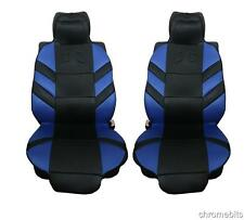 FRONT BLUE CUSHION PADDED SEAT COVERS FOR BMW 1 3 5 7 X1 X3 X5 X6 SERIES