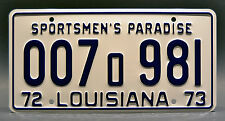 Louisiana / Shark Autopsy / 1975 JAWS Movie *STAMPED* Prop Replica License Plate
