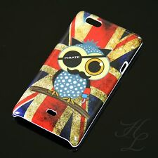 Sony Xperia Miro ST23i Hard Case Handy Schutz Hülle Cover Etui Flagge UK Pirat