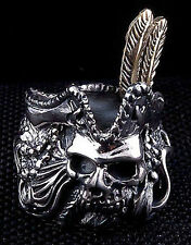 JACK SPARROW PIRATE DEATH SKULL 925 STERLING SILVER RING Sz 11.5 GOTHIC NEW