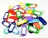 50 Llaves Etiquetas Plástico Surtido Llaveros Colorido de Identificación Nombre