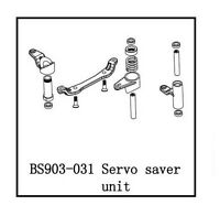 Redcat Racing BS903-031 Servo Saver Unit Caldera 3.0 10E XB Part BS903-031