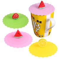 Cute Fruit Silicone Coffee Mug Magic Cover Anti-dust Reusable Glass Cup Lid Cap