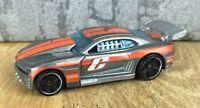 Diecast Car Hot Wheels 2011 Camaro TM GM in Silver/Orange Toy Car Model
