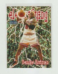 1998-99 Fleer TRADITION Dennis Rodman ELECTRIFYING INSERT Chicago Bulls HOF #10