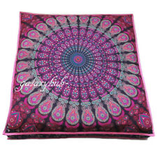 "35"" Indian Large Pink Multi Mandala Floor Cushion Cover Pillow Pouf Covers Throw"
