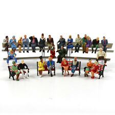 P4806 25 pcs All Seated Figures O scale 1:48 Painted People Model Railway NEW