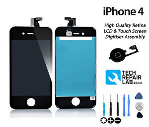 NEW iPhone 4 Premium Quality LCD & Digitiser Touch Screen Replacement - BLACK
