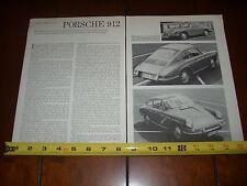 PORSCHE 912  - 1965 Original Vintage Article