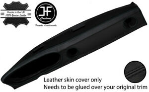BLACK STITCHING DASH DASHBOARD LEATHER COVER FITS JENSEN HEALEY 1972-1975