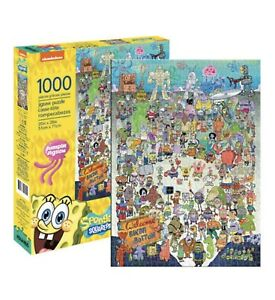 Aquarius Spongebob Squarepants Cast 1000 Piece Jigsaw Puzzle. Adults Kids Toys