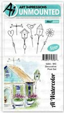 Art Impressions 5055 Watercolor Cling Rubber Stamps-Sitting Places