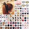 Elegant Bow Floral Hair Band Ties Rope Elastic Scrunchie Ladies Girl Accessories
