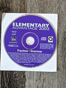 2002 Elementary Advantage Fractions and Grammar Installation CD Encore Software
