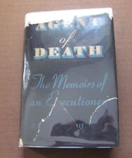AGENT OF DEATH memoir Robert G. Elliott -1st HCDJ 1940 death penalty executioner