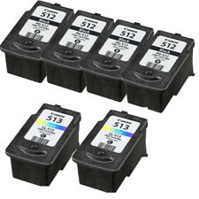 Refilled Ink Cartridge for 4 Canon PG 512 Black 2 CL 513 Color for PIXMA MP240