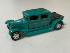 Johnny Lightning Green 1929 Ford Crew Cab Pickup Truck with Rubber Tires