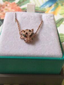 NEW!14K Rose Gold Diamond & Tsavorite Panther Bracelet /EFFY / $1,400/REDUCED!!!