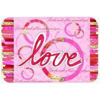 Carolines Treasures PJC1115LCB Love Is A Circle Valentines Day Glass Cutting ...