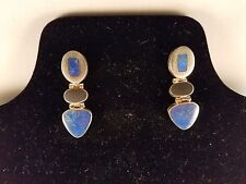 Sterling Silver Earrings with Lapus Lazuli Stones 2