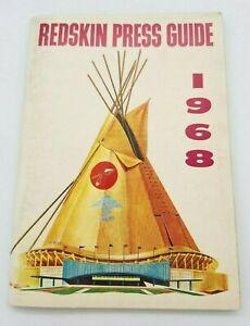 WASHINGTON REDSKINS NFL FOOTBALL  MEDIA GUIDE - 1968 - NM  SHAPE