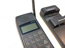 vintage ericsson handy gh198 typ 1521-brick telefon mit ladeschale 4221