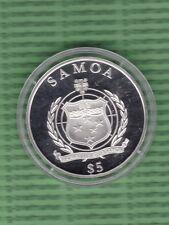 "SAMOA - Silbermedaille 5 Dollar Jahr 2010 ""175 Years of German Railways"" (M369)"