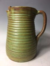 RARE AR Cole or Waco NC Pottery Pitcher Vase with Green Brown Glaze Southern