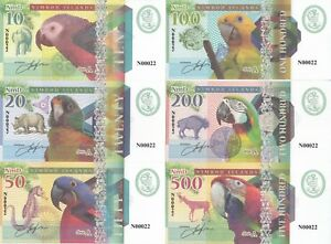 Nimrod Islands Set 6 Banknotes 2018 UNC Private issue (25321)