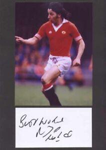 Micky Thomas - Man Utd - Signed Photo & Index Card - COA (14887)