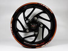 Rim Autocollants Kit 710028 Orange-Noir Course Vélo Voiture 16,17 et 18 Pouces