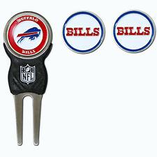 Buffalo Bills NFL Team Golf Divot Tool with 3 Magnetic Ball Markers